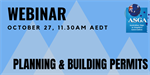 ASGA Planning & Building Permits Webinar 27 October 2020
